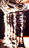 Stems of crystal wine glasses Royalty Free Stock Photo