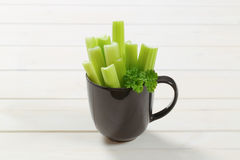 Stems of green celery Royalty Free Stock Photos