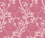 Stems pink seamless pattern. Royalty Free Stock Photos