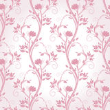 Stems pink seamless pattern. Royalty Free Stock Photography