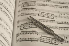 Stemvork op muziek royalty-vrije stock foto's