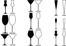 Stemware Royalty Free Stock Photography
