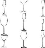 Stemware abstract Royalty Free Stock Photography