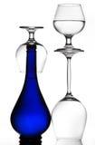 Stemware & bottle background Royalty Free Stock Images