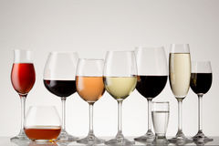 Stemware collection. Royalty Free Stock Images