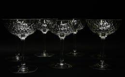 Stemware de cristal imagens de stock royalty free