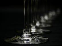 Stemware de cristal   imagem de stock