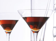 Stemware en verre Photo stock
