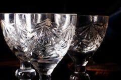 Stemware glass on a black background Royalty Free Stock Photo