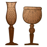 Stemware. Glass in vector Royalty Free Stock Photo
