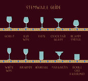 Stemware guide Royalty Free Stock Image
