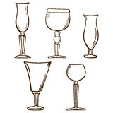 Stemware pattern. Glass in vector Royalty Free Stock Images