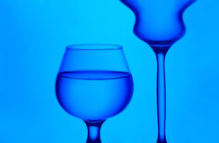 Stemware silhouettes Royalty Free Stock Photography
