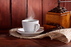 Stemy black coffee Royalty Free Stock Images