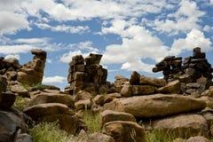 Stenöken i Namibia Arkivbilder