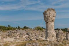 Stenöknen (den Pobiti kamanien) nära Varna, Bulgarien Arkivbilder