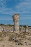 Stenöknen (den Pobiti kamanien) nära Varna, Bulgarien Fotografering för Bildbyråer