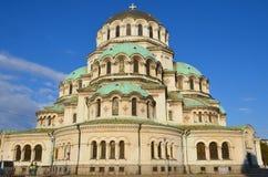Sten Alexander Nevsky Cathedral Royaltyfri Foto