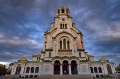 Sten Alexander Nevsky Cathedral Royaltyfria Bilder