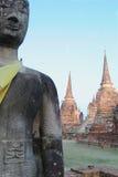 Sten buddha Arkivfoto