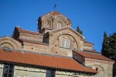 Sten Clement Church i Ohrid - helig moder av den gudPeribleptos kyrkan Royaltyfri Foto