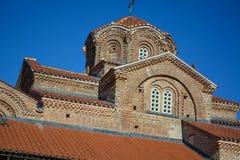 Sten Clement Church i Ohrid - helig moder av den gudPeribleptos kyrkan Royaltyfri Bild