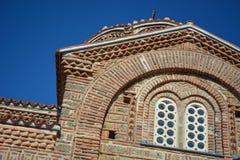 Sten Clement Church i Ohrid - helig moder av den gudPeribleptos kyrkan Arkivfoto