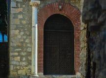 Sten Clement Church i Ohrid - helig moder av den gudPeribleptos kyrkan Royaltyfria Foton