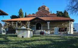 Sten Clement Church i Ohrid - helig moder av den gudPeribleptos kyrkan Fotografering för Bildbyråer