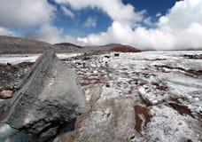 sten för berg för caucasus glaciärmoraine Royaltyfri Fotografi