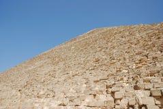 sten för blockdetaljgiza pyramid Arkivfoto