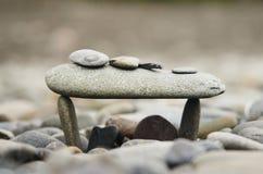 sten för brobussstation arkivfoto
