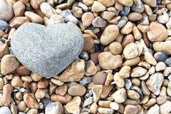 sten för hjärtaligganderiktning Arkivfoto