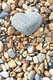 sten för hjärtariktningsstående Arkivfoto