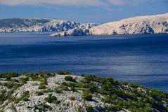 sten för kustcroatia hav Fotografering för Bildbyråer