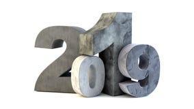 sten för nytt år 2019 royaltyfri illustrationer