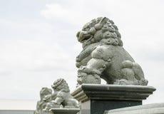 sten för porslinlionnanjing lättnad Arkivbild