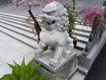 sten för porslinlionnanjing lättnad Royaltyfri Bild