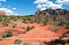 sten för sedona för arizona liggande röd Royaltyfri Bild