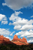 sten för sedona för arizona liggande röd Arkivbilder