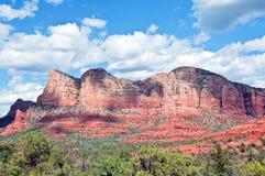 sten för sedona för arizona liggande röd Royaltyfri Fotografi