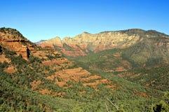 sten för sedona för arizona liggande röd scenisk Royaltyfria Bilder