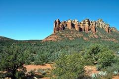 sten för sedona för arizona liggande röd scenisk Royaltyfri Bild