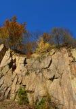 Sten-grop i hösten royaltyfri fotografi
