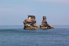 Sten i havet Royaltyfria Bilder