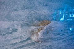 Sten in i is fotografering för bildbyråer