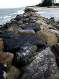 Sten i stranden Royaltyfri Bild