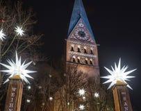 Sten Johannis Church i Lueneburg presenterar en populära Christm Fotografering för Bildbyråer