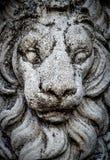 Sten Lion Statue Royaltyfri Bild
