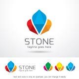 Sten Logo Template Design Vector Royaltyfri Foto